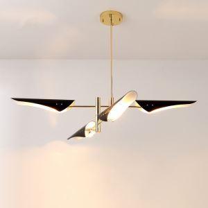 Suspension en métal D125cm laquage 3 modèles 2 couleurs forme unique crop or pour chambre salle simple