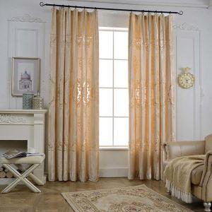 Rideau jacquard imprimé en chenille polyester coton dessin magnifique pour chambre à coucher simple moderne