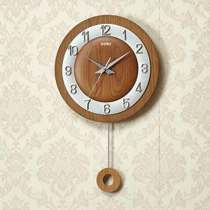 Horloge murale silencieuse en bois simple moderne
