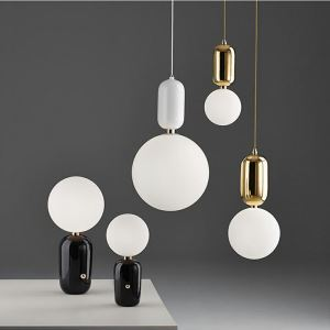 Suspension en verre métal luminaire pour salle restaurant bar dans style moderne simple