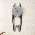 Horloge murale silencieuse en acrylique brun gris simple moderne