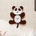 Horloge murale silencieuse en acrylique panda simple moderne