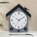 Horloge murale silencieuse en acrylique cottage simple moderne