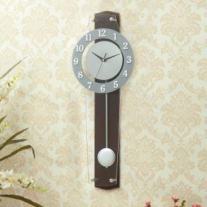 Horloge murale silencieuse en acrylique longue simple moderne