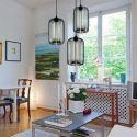 Suspension verre transparent H34cm lampe bulle luminaire design pour cuisine chambre salle
