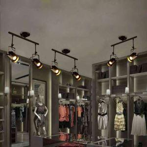Projecteur spot à 2 lampes peinture pôle d'éclairage style industriel rétro pour Salon Salle à manger Bar