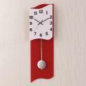 Horloge murale silencieuse en acrylique forme irrégulière blanc rouge simple moderne