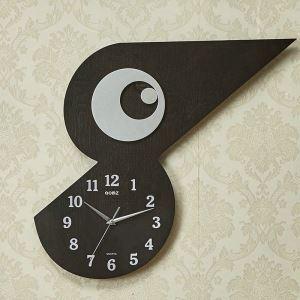 Horloge murale silencieuse en bois 2 modèles oiseau mignon simple moderne