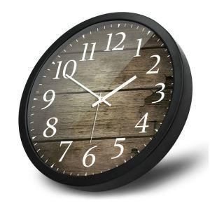 Horloge murale silencieuse en métal 2 modèles D35cm rond simple rétro