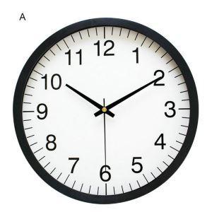 Horloge murale silencieuse en plastique 3 modèles D25cm rond simple moderne