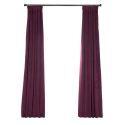 Rideau occultant en polyester violet pour chambre à coucher luxueux américain