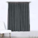 Rideau occultant en polyester gris pour chambre à coucher simple