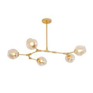 Lustre à 5 lampes branches L159 cm pour salon