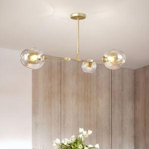 Lustre à 3 lampes branches design pour salle L167cm pour salle