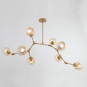 Lustre à 8 branches design L234cm pour salle