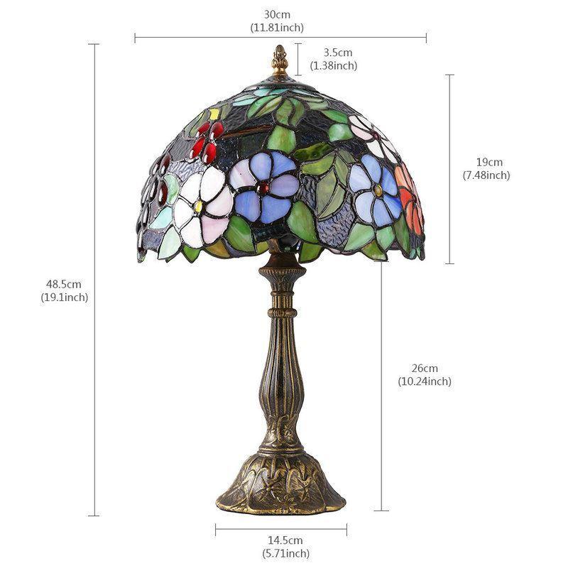 30 Cm Tiffany Cuisine De Chevet Lampe Chambre Floral D Bronzé Salle Luminaire SzpUMqGVL