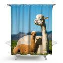 Rideau de douche impression 3D alpaca mignon pour salle de bain imperméable anti-moisissure