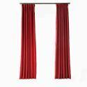Rideau tamisant en polyester rouge pour chambre à coucher simple américain