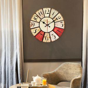 Horloge murale silencieuse en bois 5 modèles rond unique pastoral