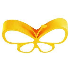 Plafonnier LED L 45 cm acrylique papillon 5 modèles pour chambre d'enfant