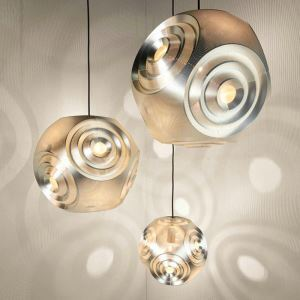 Suspension en acier inoxydable planète D30cm 2 modèles 2 couleurs pour salon chambre simple