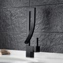 Robinet de lavabo monotrou avec bec verseur cascade et design moderne