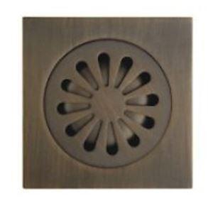 (Entrepôt UE) Antique drain de plancher en laiton (1018-J-29-13)