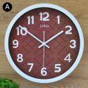 Horloge murale silencieuse en fer 6 modèles rond motif magnifique