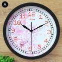 Horloge murale silencieuse en fer 6 modèles rond petite fleur
