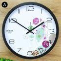 Horloge murale silencieuse en fer 6 modèles rond simple