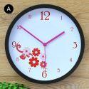 Horloge murale silencieuse en fer 6 modèles fleur rond simple