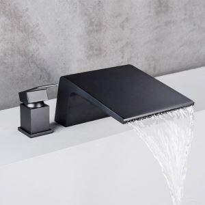 Robinet de baignoire cascade moderne en chrome poli ou noir