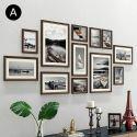 Cadre photo 12 vues en bois 7 modèles pour salle chambre moderne