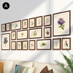 Cadre photo 20 vues en bois 7 modèles pour salle chambre