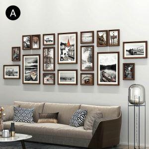 Cadre photo 18 vues en bois 6 modèles pour salle chambre