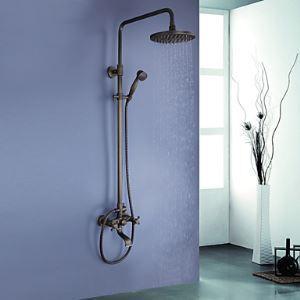 Colonne de douche laiton antique pour salle de bains