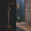 Colonne de douche en laiton antique avec douche à main pour salle de bain