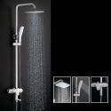 Colonne de douche avec single poignée, noire/ blanche à hauteur réglable
