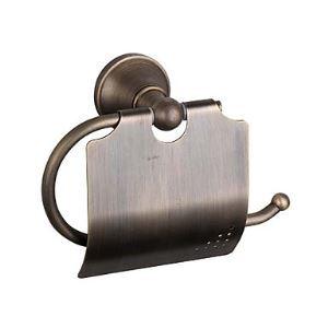 Dérouleur papier toilette laiton avec couvercle suite pour salle de bains