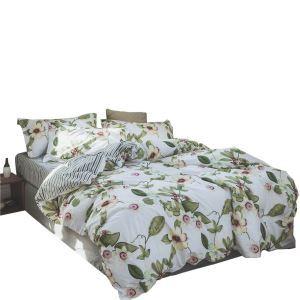 Housse de couette 200*230cm 220*240cm 1 drap 2 taies d'oreiller en coton 2 modèles rameau florifère