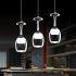 Afficher les détails pour Suspension 3w x 3 lumières verre à vin tasse pour cuisine salon salle à manger pas cher