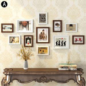 Cadre photo 11 vues en bois 8 modèles pour salle chambre