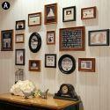 Cadre photo 16 vues en bois 4 modèles pour salle chambre