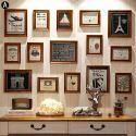 Cadre photo 15 vues en bois 2 modèles pour salle chambre