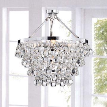 Ordinaire (Entrepôt UE) Lustres En Cristal Style Classique Luminaire Pour Salon  Chambre Salle à Manger Cuisine