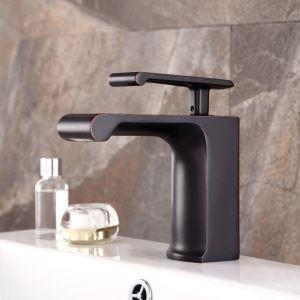 Mitigeur de lavabo cascade cuivre pour salle de bain rétro