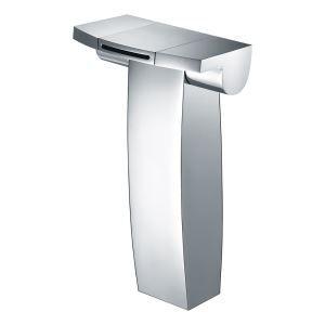 Mitigeur de lavabo cascade cuivre H23cm 2 poignées pour salle de bain chromé