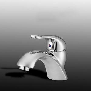 Mitigeur de lavabo en cuivre H14cm chromé