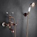 Mitigeur de douche à main cuivre or rose pour salle de bains
