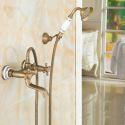 Colonne de douche en laiton antique pour toilettes